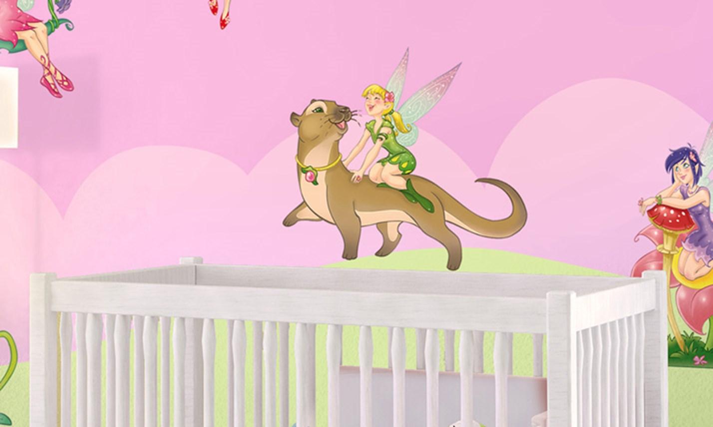 Stickers murali bambini cameretta le fatine leostickers for Decorazioni camerette bambini immagini